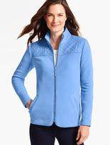 Talbots Quilted Mock-Neck Fleece Jacket
