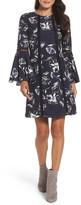 Vince Camuto Crepe de Chine A-Line Dress