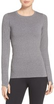 Alo Women's 'Exhale' Seamless Mesh Detail Crewneck Top