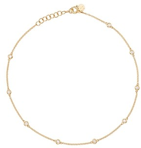 Zoe Lev 14K Yellow Gold Diamond by the Yard Ankle Bracelet
