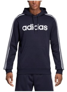 adidas Men's Essentials 3-Stripes Fleece Logo Hoodie