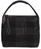 Tory Burch Taylor Woven Leather Hobo Bag - Black