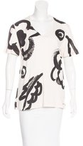 Burberry Abstract Print Short Sleeve Top