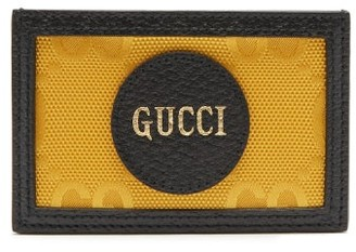 Gucci Logo-patch Gg-canvas Card Holder - Yellow