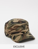 Reclaimed Vintage Inspired Army Cap In Camo