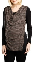 Maternal America Women's Cowl Neck Nursing Top