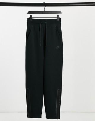 Nike Tech fleece oversized high waisted sweatpants black