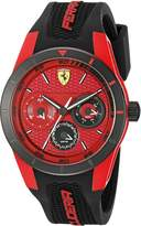 Ferrari Men's 0830255 REV T Analog Display Japanese Quartz Black Watch
