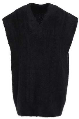 Maison Margiela Oversized Brushed Cable-knit Vest