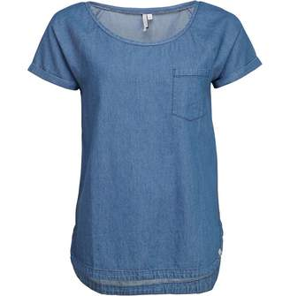Animal Womens Flow Deluxe Woven T-Shirt Chambray Blue