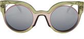 Fendi Bi-colour round-frame sunglasses