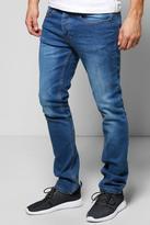 Boohoo Slim Fit Dark Blue Washed Jeans