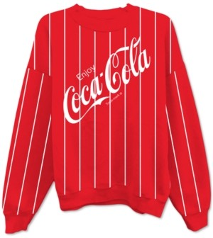 Freeze 24-7 Juniors' Coca-Cola Striped Sweatshirt