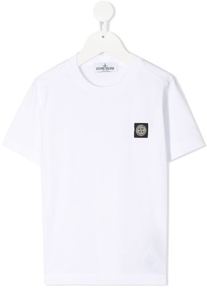 Stone Island Junior Jersey T-shirt With Logo Patch