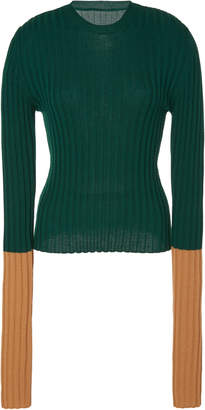 J.W.Anderson Long Sleeve Ribbed Wool Top