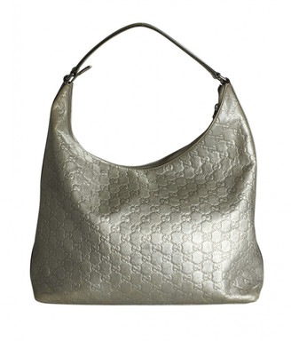 Gucci Silver Leather Handbags
