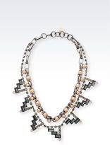 Emporio Armani Steel Necklace With Stones