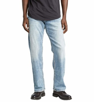 Silver Jeans Co. Men's Zac Relaxed Fit straight leg jeans Jean