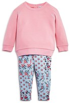 Splendid Infant Girls' Topstitched Sweatshirt & Floral Leggings Set - Sizes 3/6 - 18/24 Months