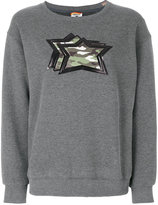 Atlantic Stars camouflage stars patch appliqué sweater