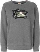 Atlantic Stars camouflage stars patch appliqué sweater