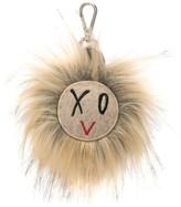 Ports V XOV faux fur keyring