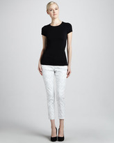 Liverpool Abby-Skinny Brocade Ankle Jeans
