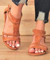 Mata Shoes Women's Sandals TAN - Tan Braided Roman T-Strap Sandal - Women