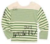 Burberry Baby & Toddler's Stripe Cotton Logo Tee