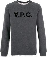 A.P.C. appliqué logo sweatshirt - men - Cotton - XS