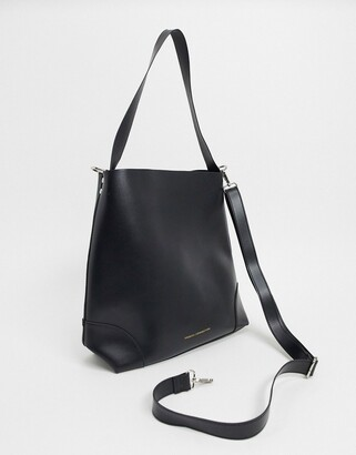French Connection Faux Leather Clean Classic Tote Bag