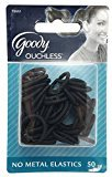 Goody Women's Classic Shiny Mini Black Elastics, No Metal, 50 Pc, GD-76661