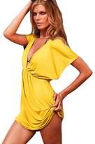 Bestgift Womens Deep-V Sexy Summer Holiday Cover Up Sun Swimwear Beachwear
