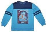 Star Wars Boys' BB8 Long Sleeve Sweatshirt - Light Blue