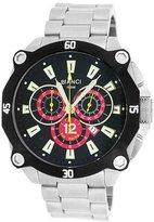 Roberto Bianci Men's 7101m_blk Pro Racing Analog Display Analog Quartz Silver Watch
