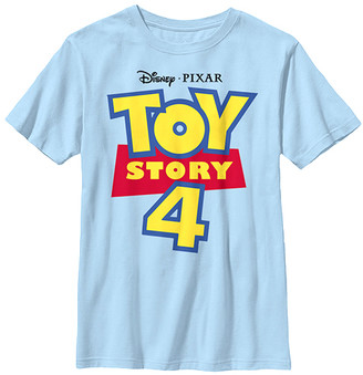 Fifth Sun Boys' Tee Shirts LT - Toy Story 4 Light Blue Full Color Logo Tee - Boys