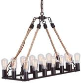 Apt2B Beckwith Chandelier BLACK/NATURAL
