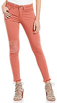 Gianni Bini Cameron 5-Pocket Distressed Skinny Ankle Denim Pant