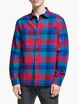 Edwin Labour Check Shirt, Red/Dress Blue