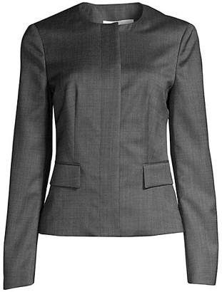 HUGO BOSS Jamaren1 Patterned Stretch Wool Jacket