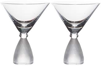 Home Essentials And Beyond Pedestal Frosted Martini Glass - Set of 2