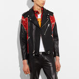 Coach Mashup Moto Barracuda Jacket