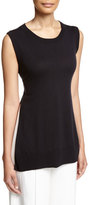 ADAM by Adam Lippes Side-Slit Tie-Back Tunic, Navy