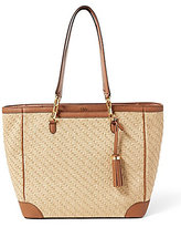 Lauren Ralph Lauren Howley Collection Halee Tasseled Straw Tote