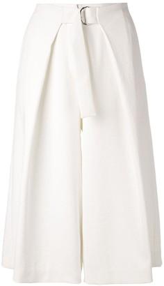 Tibi Chalky drape pleated long shorts