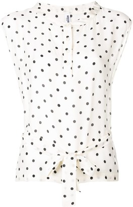 Moschino Pre Owned 2000's Spotted Print Blouse