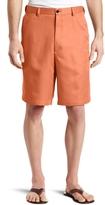 Haggar Men's Cool 18 Gabardine Hidden Expandable Waist Plain Front Short