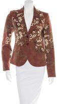 Etro Wool-Blend Floral Print Blazer
