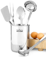 All-Clad Stainless Steel 6 Piece Kitchen Utensil Crock Set