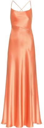 Galvan Serena satin maxi dress